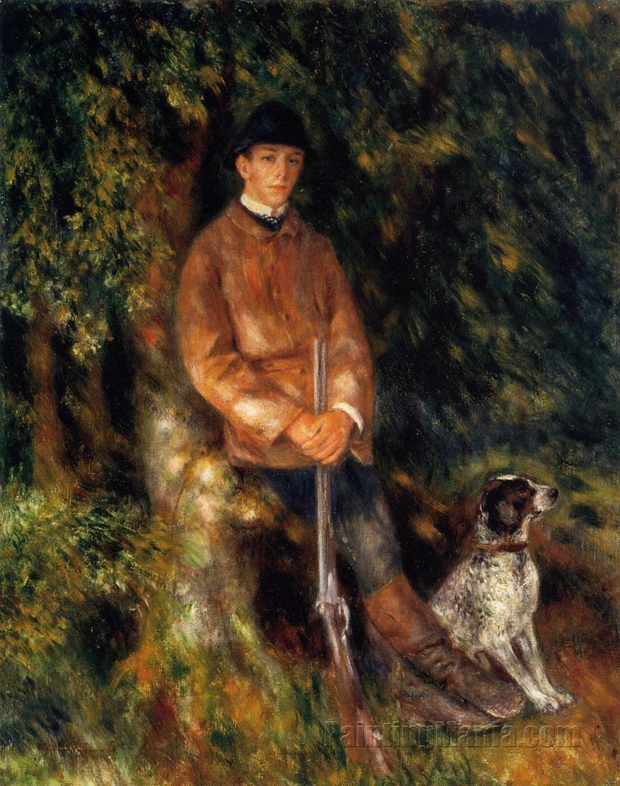 Alfred Berard and His Dog