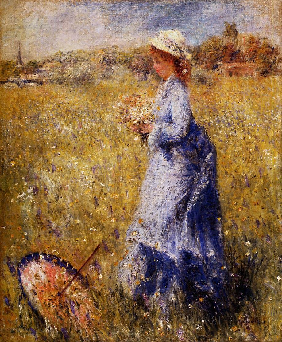 Girl Gathering Flowers