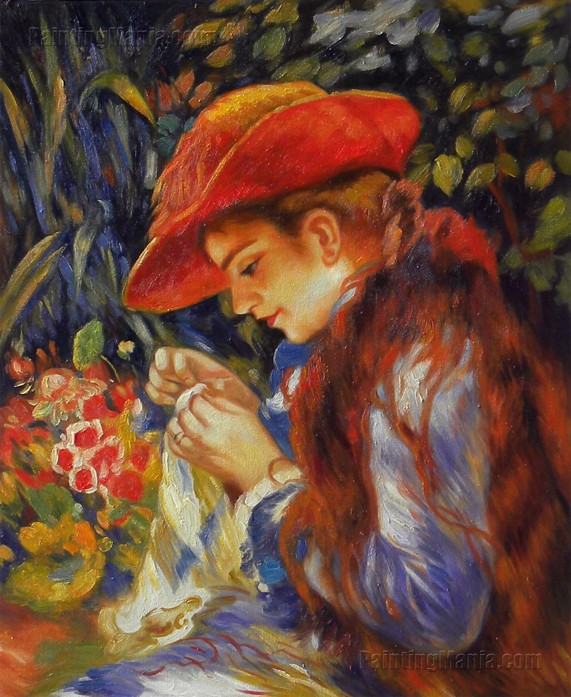 Mademoiselle Marie-Therese Durand-Ruel Sewing