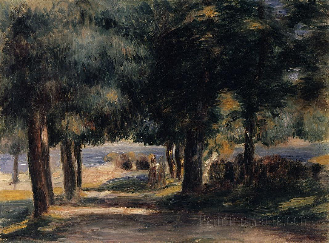 Pine wood on the cote d 39 azur pierre auguste renoir paintings for Auguste chabaud cote