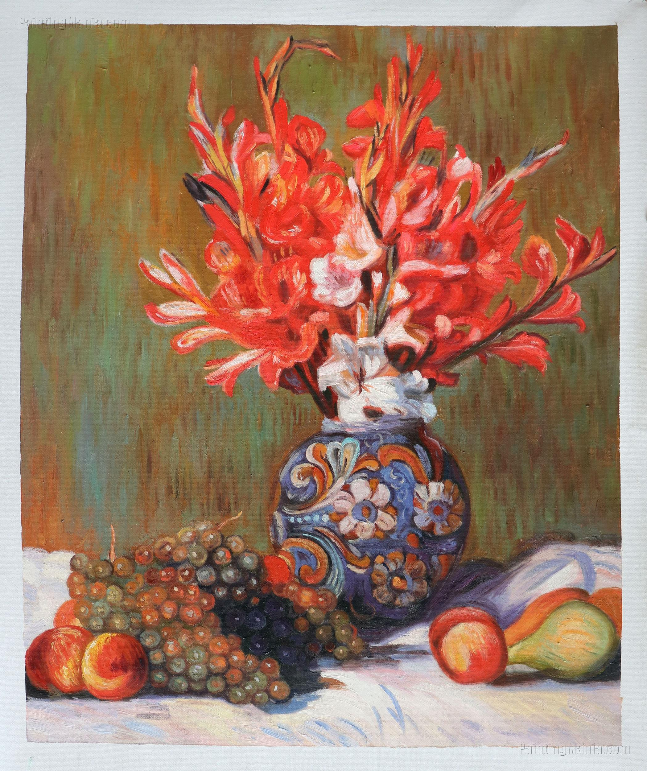 Still Life - Flowers and Fruit