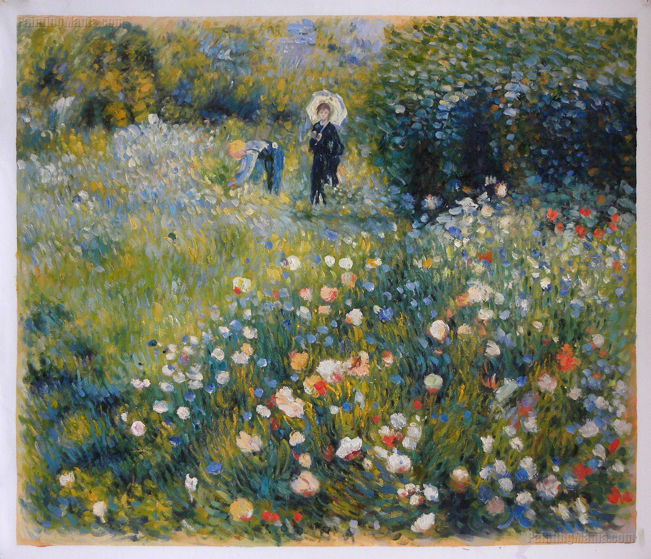 Summer Landscape (Woman with a Parasol in a Garden)