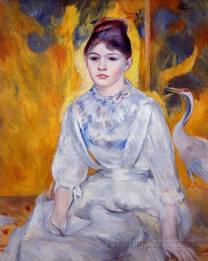 Young Woman with Crane