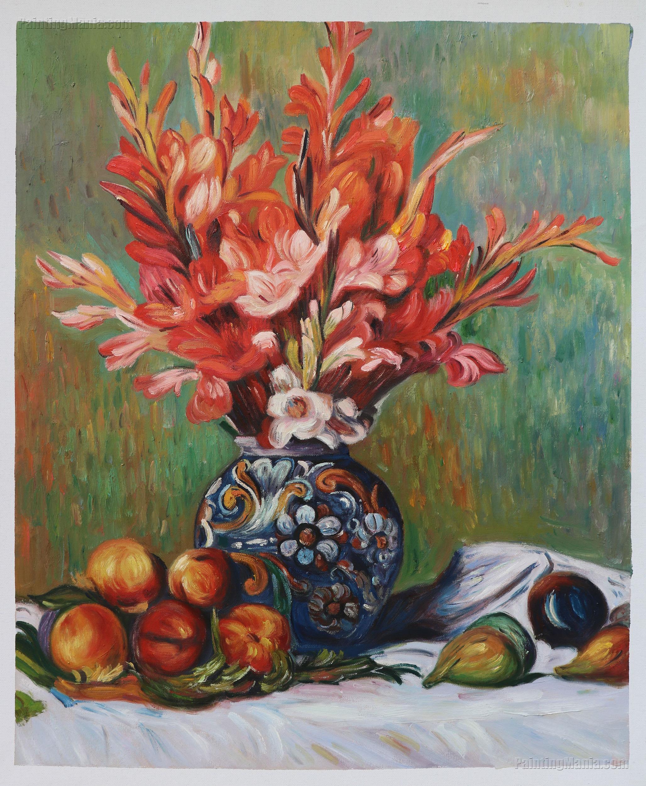 Flowers And Fruit Pierre Auguste Renoir Paintings