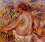 After Bathing, Seated Female Nude