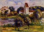 Breton Landscape - Church and Orchard