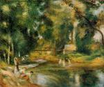 Essoyes Landscape - Washerwoman and Bathers