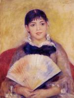 Girl with a Fan (Alphonsine Fournaise)