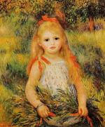 Little Girl with a Spray of Flowers