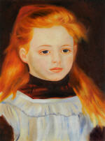 Little Girl in a White Apron