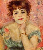 Portrait of the Actress Jeanne Samary 1877