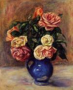 Roses in a Blue Vase 1900