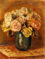 Roses in a Blue Vase