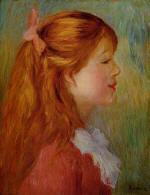 Young Girl with Long Hair in Profile