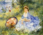 Young Woman with a Japanese Umbrella