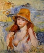 Young Woman in a Straw Hat 1884