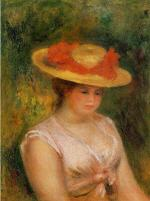 Young Woman in a Straw Hat 1901