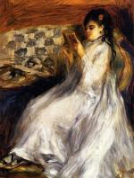 Young Woman in White Reading