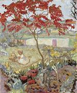 The Garden with Red Tree