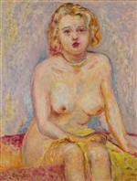 Naked Blonde Sitting