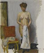 Nude, Red Chair
