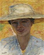 Portrait of a Woman with a Big Hat