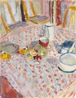 Still Life on a red Checked Tablecloth