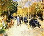 Avenue de Longchamps in Spring