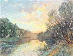 Banks of a River at Sunset