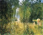 Landscape with Backlighting, a Summer Morning at Vaeux