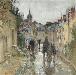 Village under the Rain