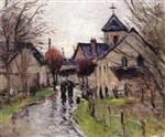 Villagers in the Rain