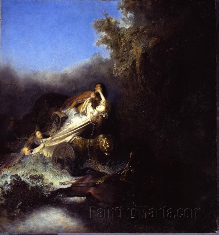The Rape of Proserpina - Rembrandt van Rijn Paintings