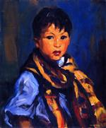 Boy with Plaid Scarf