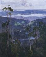 Hobart from the Slopes of Mount Wellington