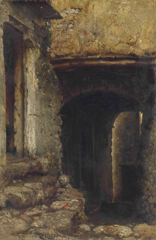A Doorway, Algiers (Coffee house in Algiers)
