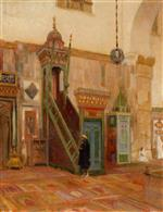 Interior of a Mosque or the Mimbar of the Great Mosque at Damascus