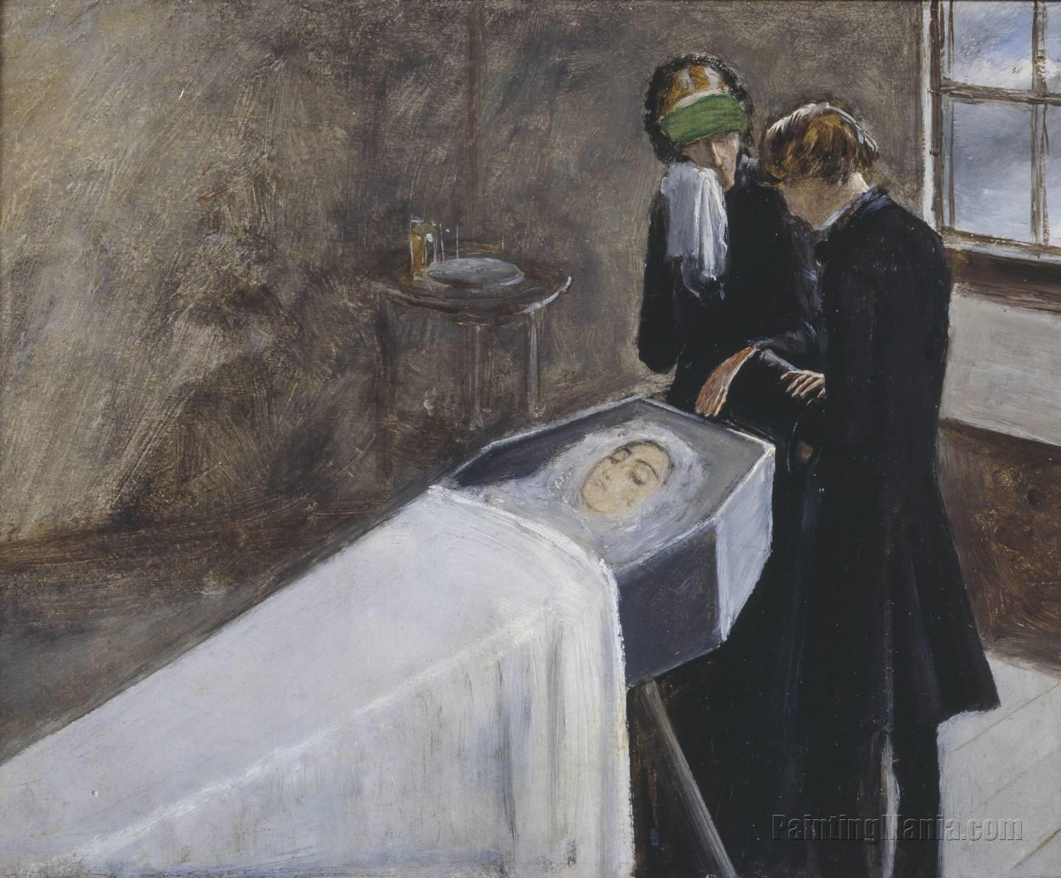 The Artist Attending the Mourning of a Young Girl