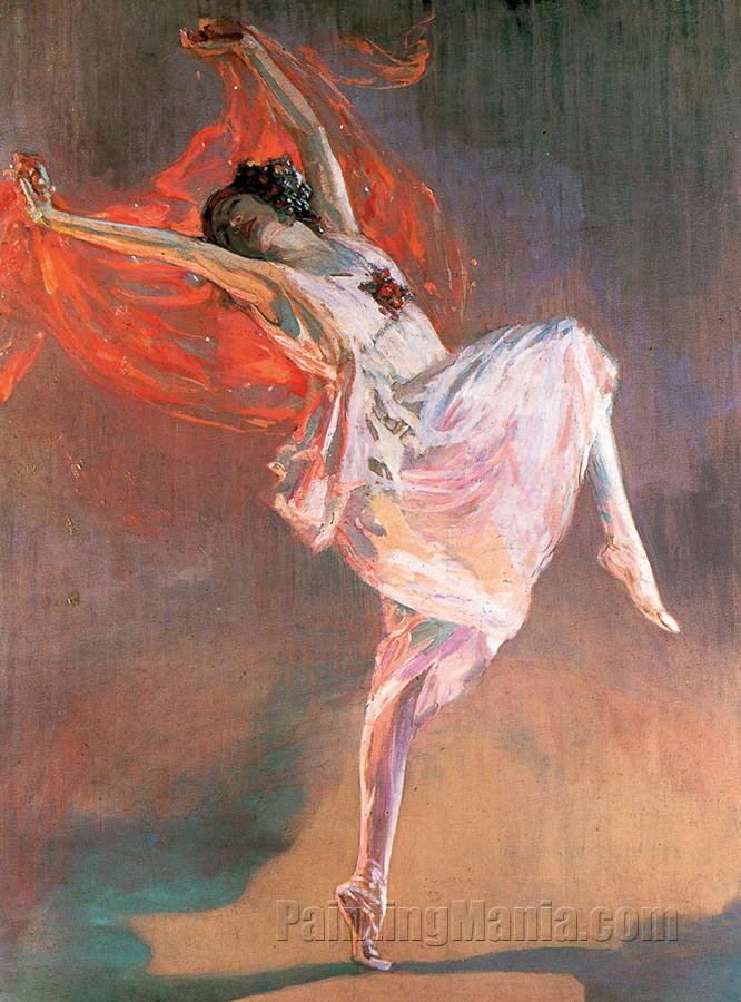 Anna Pavlova as a Bacchante