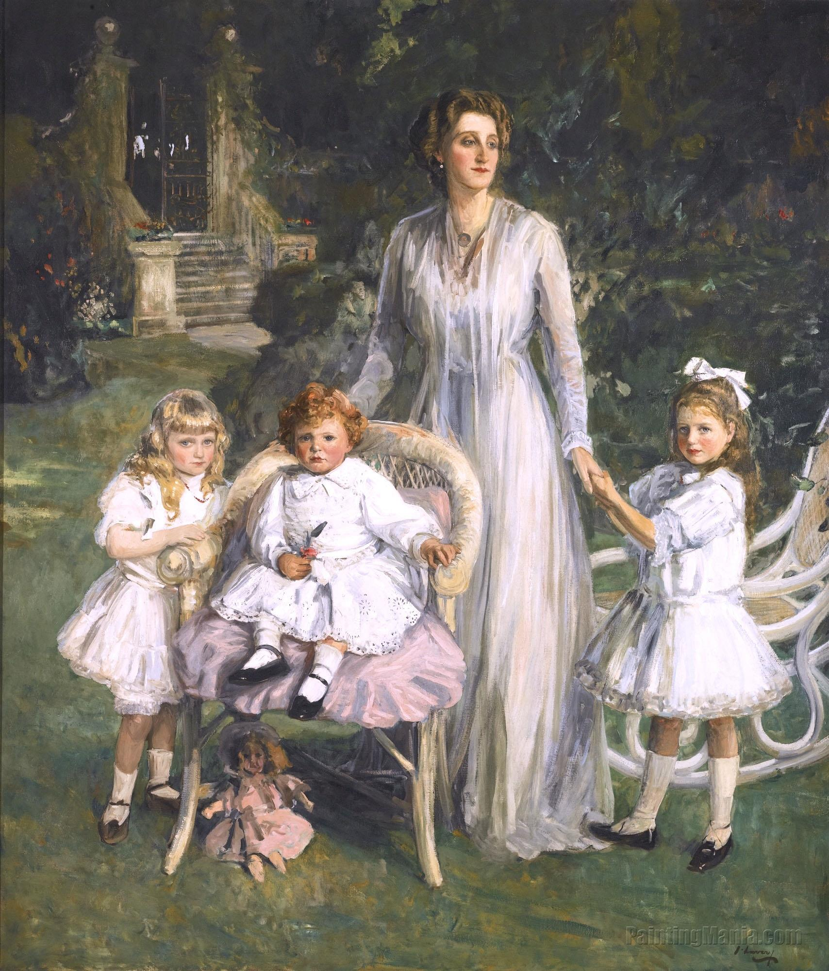 Archibald Benn Duntley Maconochie with His Mother and Sisters