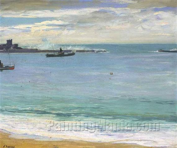 Steamers in the Harbour, St. Jean de Luz