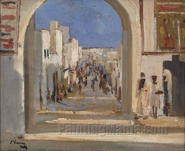 A Street in Rabat, Morocco