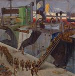 American Troops Embarking. Southampton