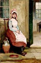 A Seated Milkmaid
