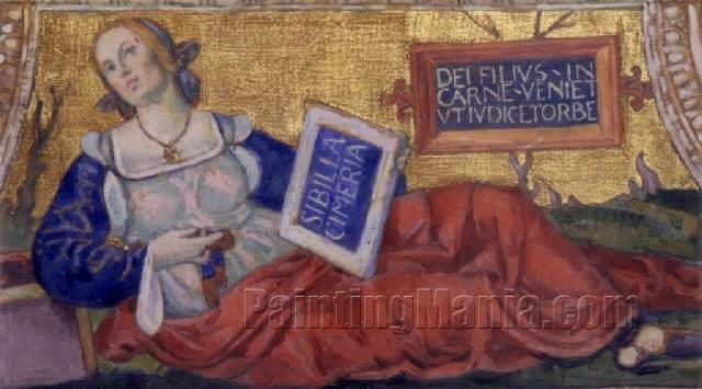 Allegory of Sybille - Tribute to Pinturicchio