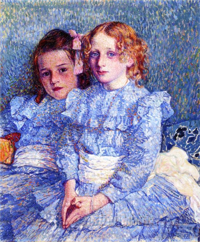 Portrait of Helene and Michette Guinotte