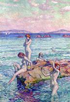 Bathers on the Rocks