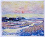 Beach at Low Tide: Evening