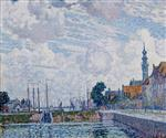 Cloudy Sky over the Harbour of Veere