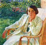 Elizabeth van Rysselberghe in a Cane Chair